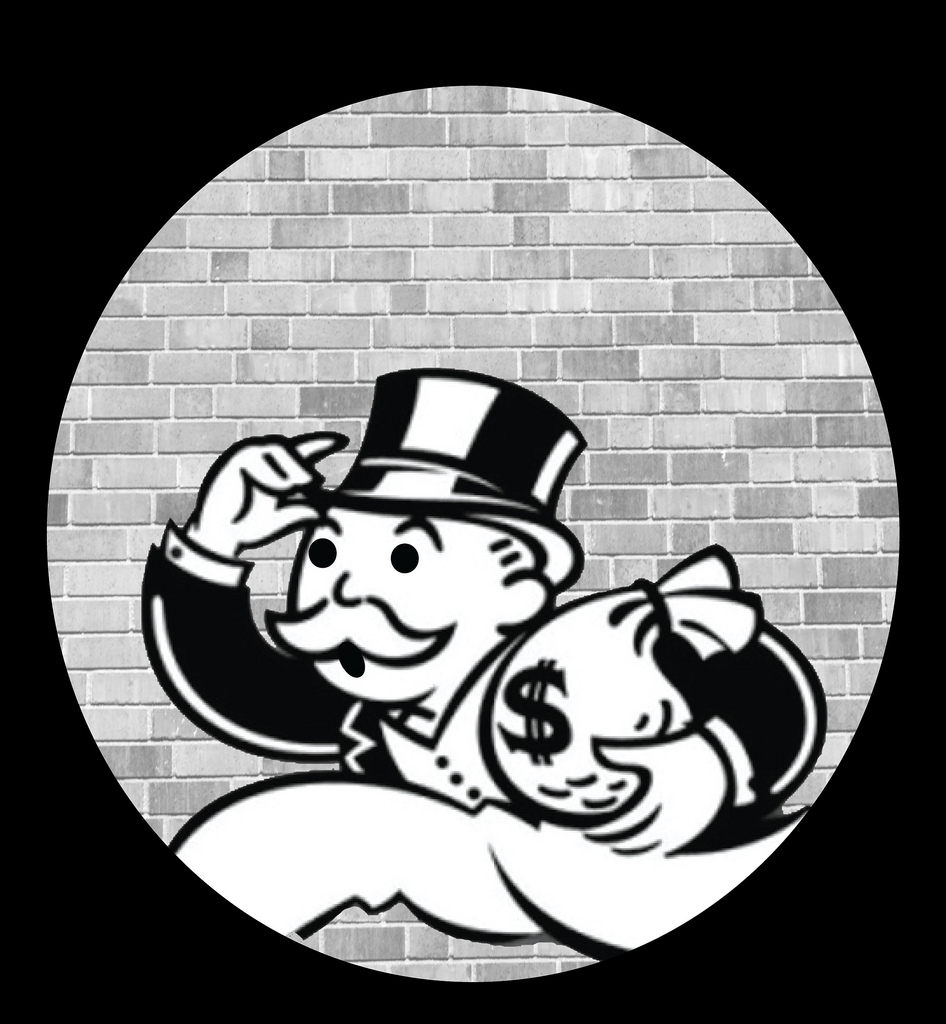 Monopoly Man absconding clip art.