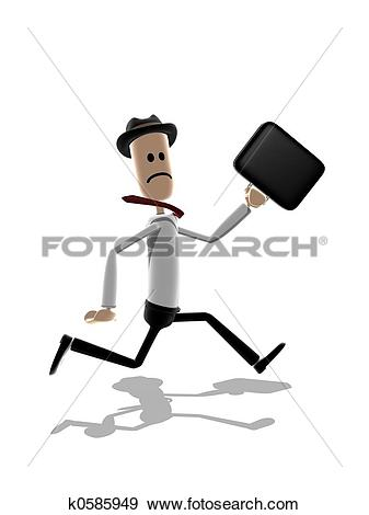 Stock Illustration of Business man running k0585949.