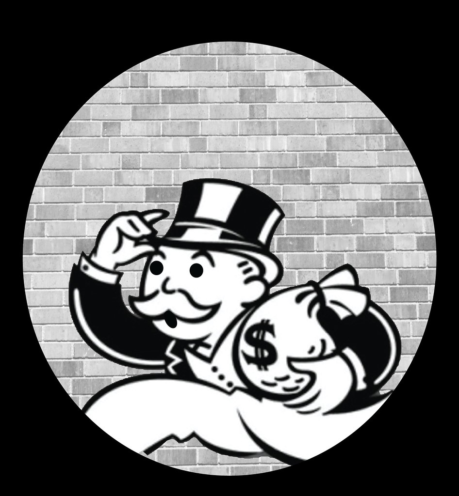 Monopoly Man absconding clip art.