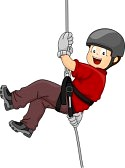 Abseiling animations and animated gifs..