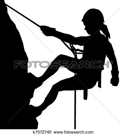 Clipart of Abseiling Man k7573364.