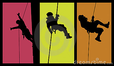 Children Silhouettes Playing Archery Stock Vector.
