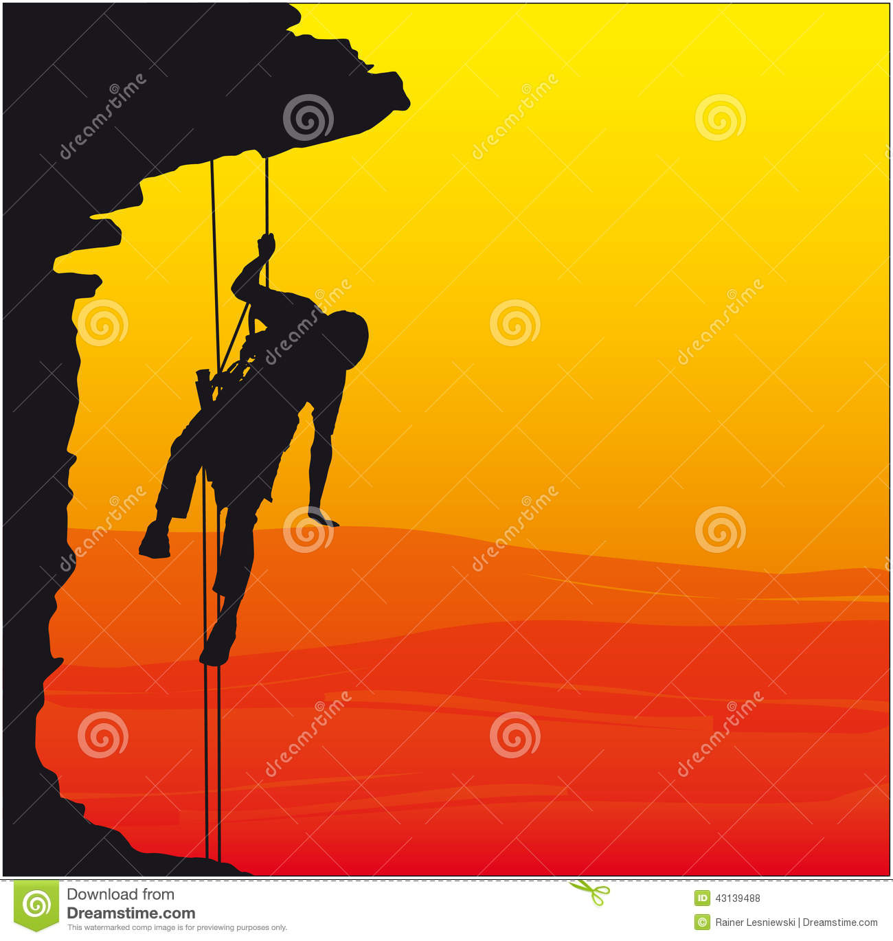 Abseiling Stock Illustrations.