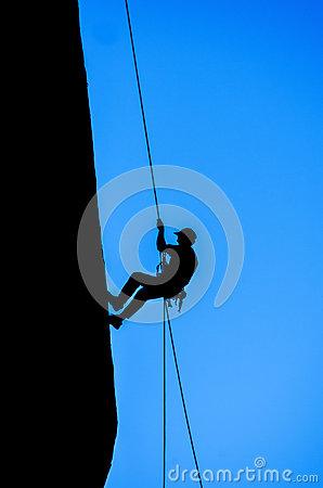 Climber Outline Stock Vector.