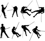 Vector Illustration of Rappel silhouettes.