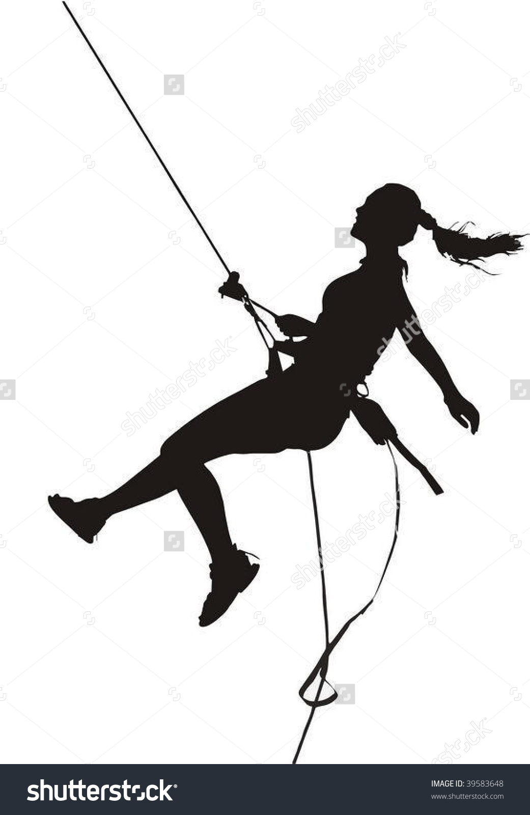 Rappelling clipart.