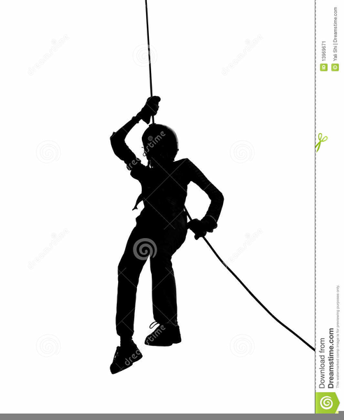 Abseiling Clipart.