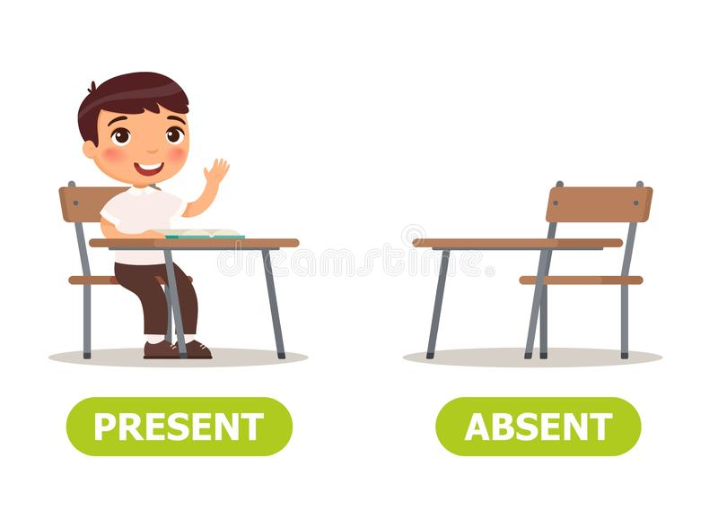 Absent Pupil Stock Illustrations.