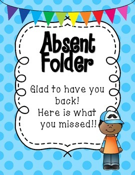 Absent Student Folder Covers.