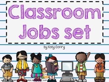 Classroom Jobs Set: 33 Labels (Melonheadz Kids) in 2019.