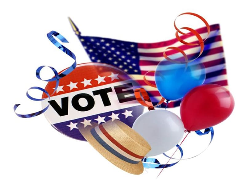 United States Election Day (US) Voting Absentee ballot.