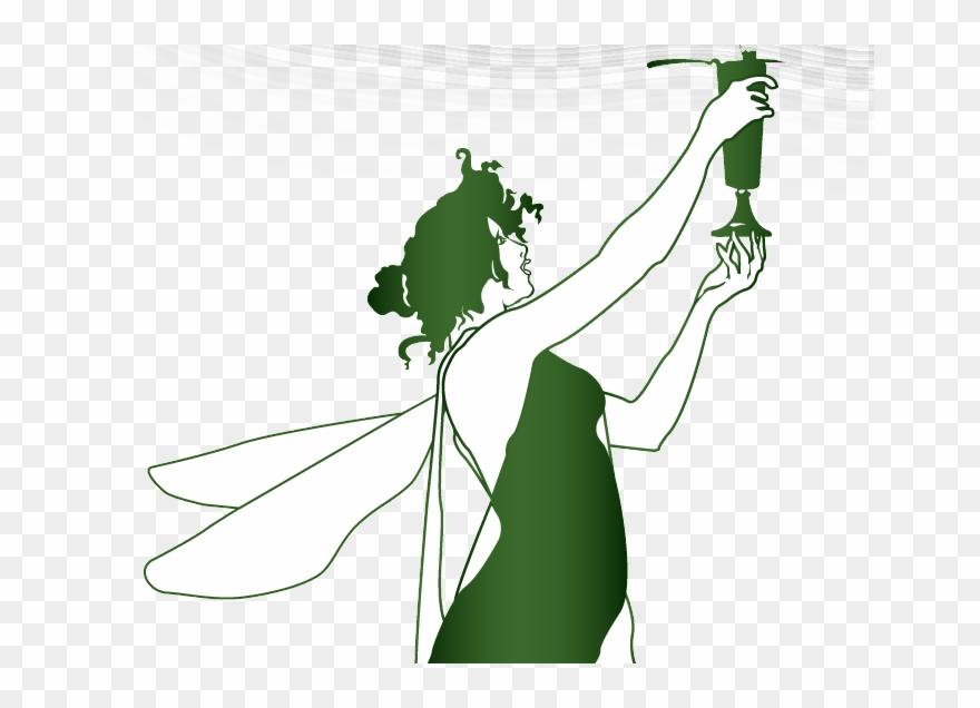 Green Absinthe Fairy Clipart (#2725929).