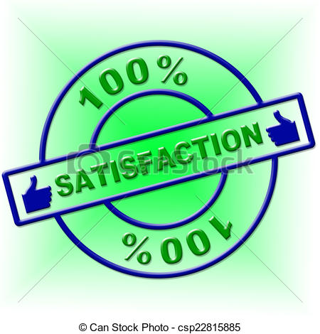 Stock Illustration of Hundred Percent Satisfaction Indicates.