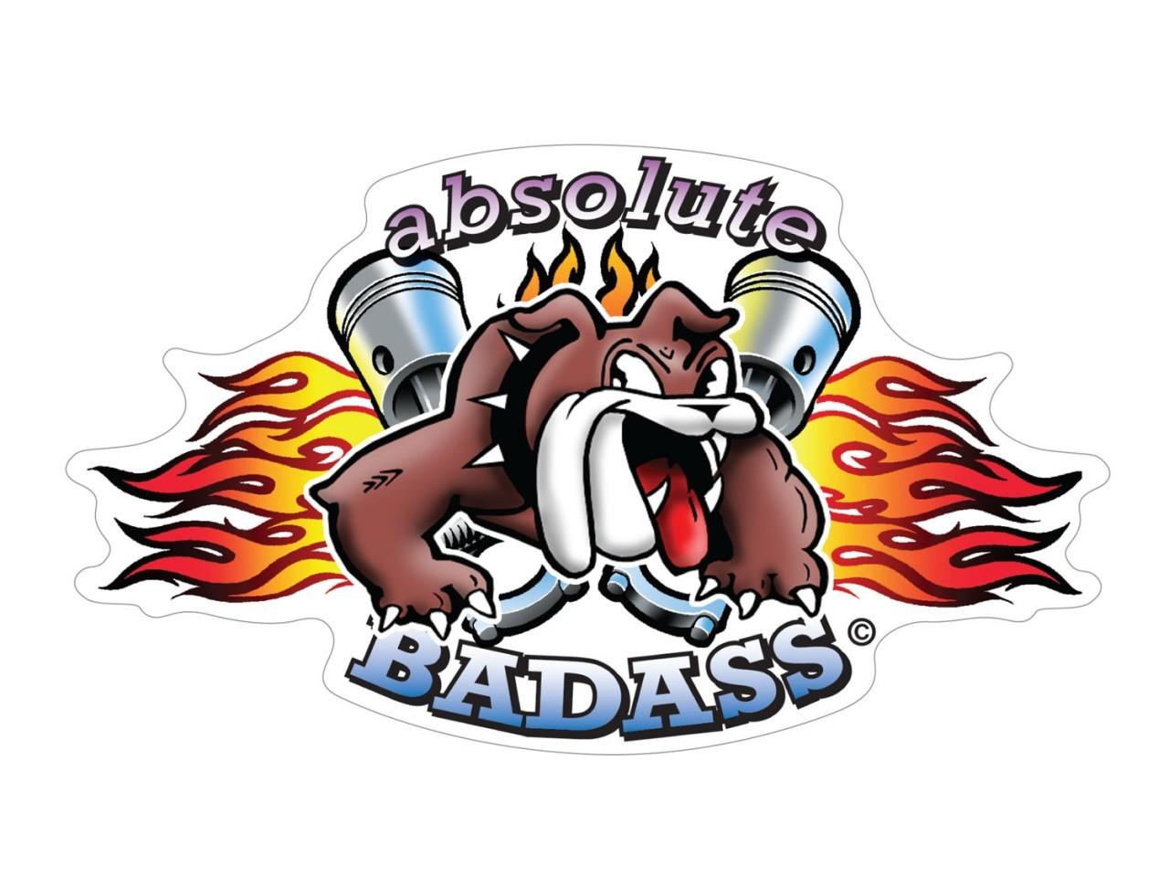Bulldog Absolute Badass Sticker.
