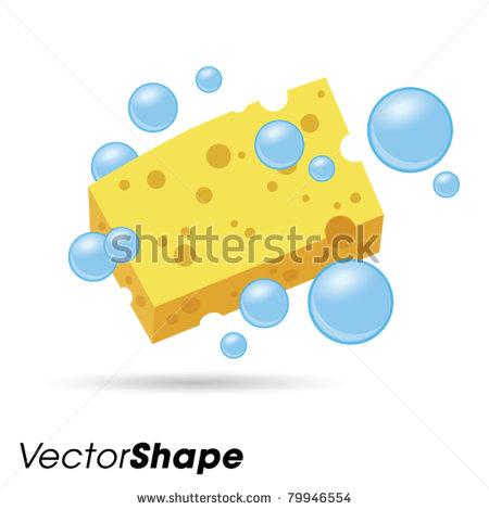 Wet sponge clipart.