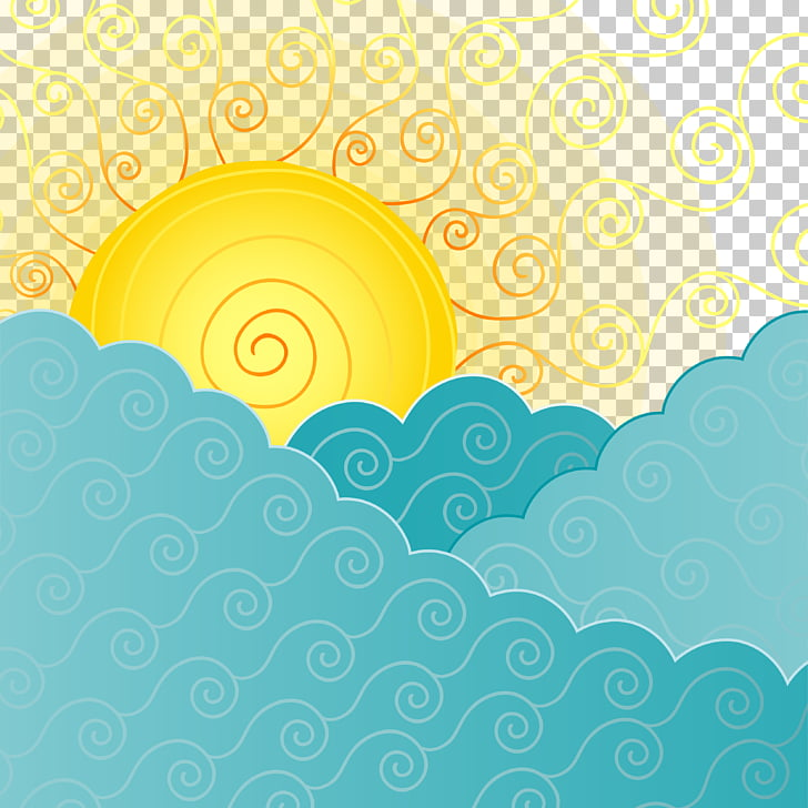 Cloud Sky Sunrise, Abstract clouds in the sun PNG clipart.