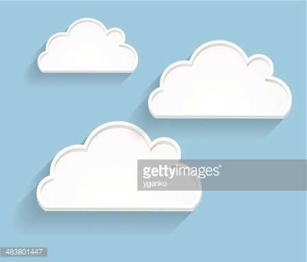 Abstract Cloud Background Vector Illustration Clipart Image.