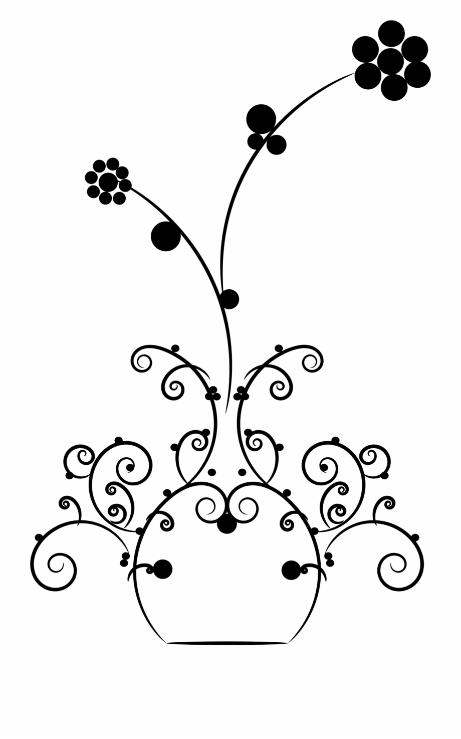 This Free Icons Png Design Of Abstract Flourish Vase.