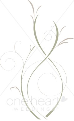 Green Abstract Bouquet Clipart.