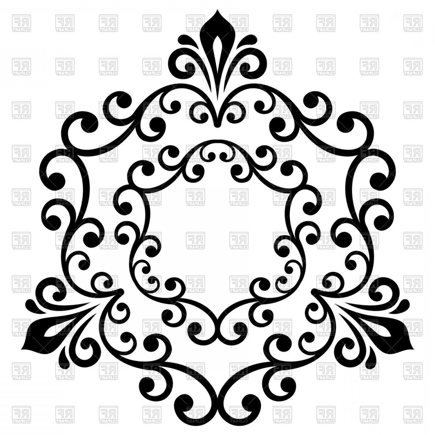Elegant Vector Ornament In Classic Style Abstract.