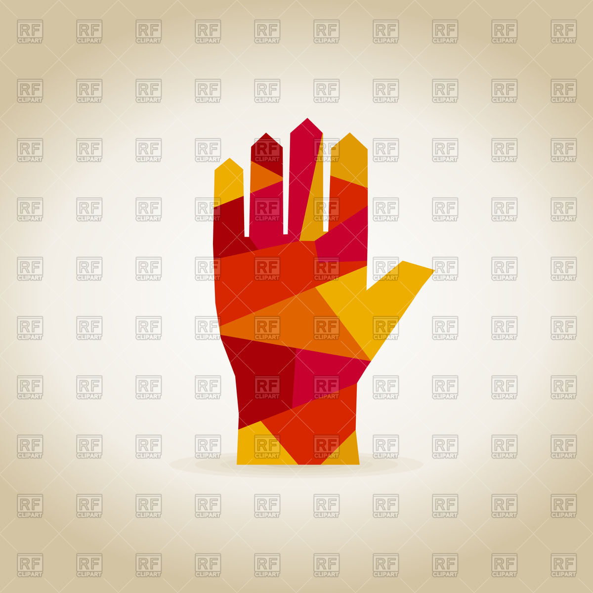 Abstract Hand Clipart.