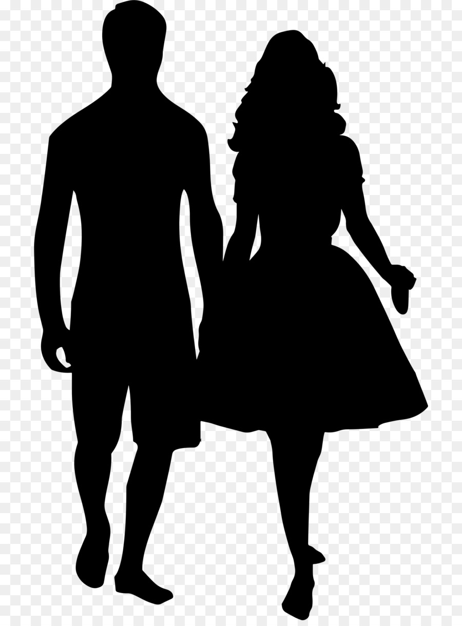 Silhouette Holding hands Drawing Clip art.