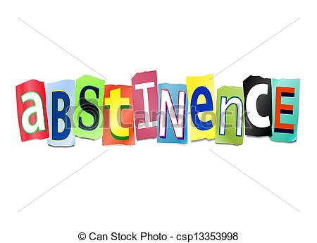 Stock Illustration of Abstinence concept..