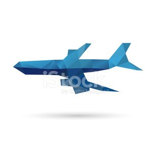 Airplane abstract isolated on a white backgrounds, vector.