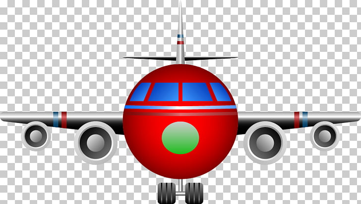 Airplane Aircraft Abstraction, Abstract cartoon airplane.