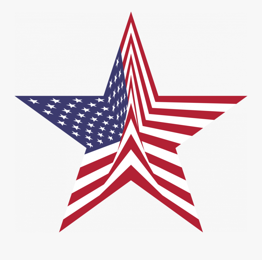 Abstract American Star And Flag Clip Art Library Collections.