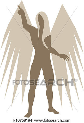 Abstract angel Clipart.