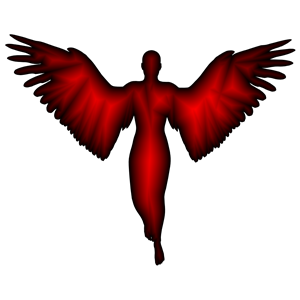 Angel Silhouette Crimson clipart, cliparts of Angel.