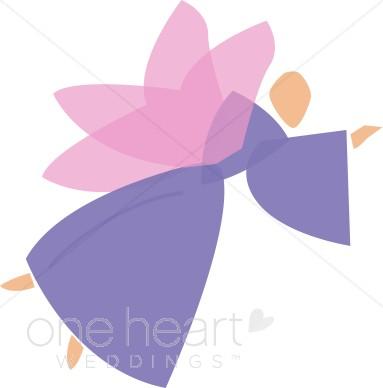 Abstract Purple Wedding Angel.