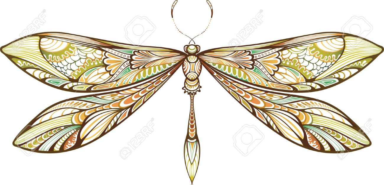 Abstract Animal Dragonfly Royalty Free Cliparts, Vectors, And.