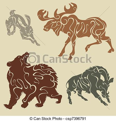 Abstract Animal Clipart.