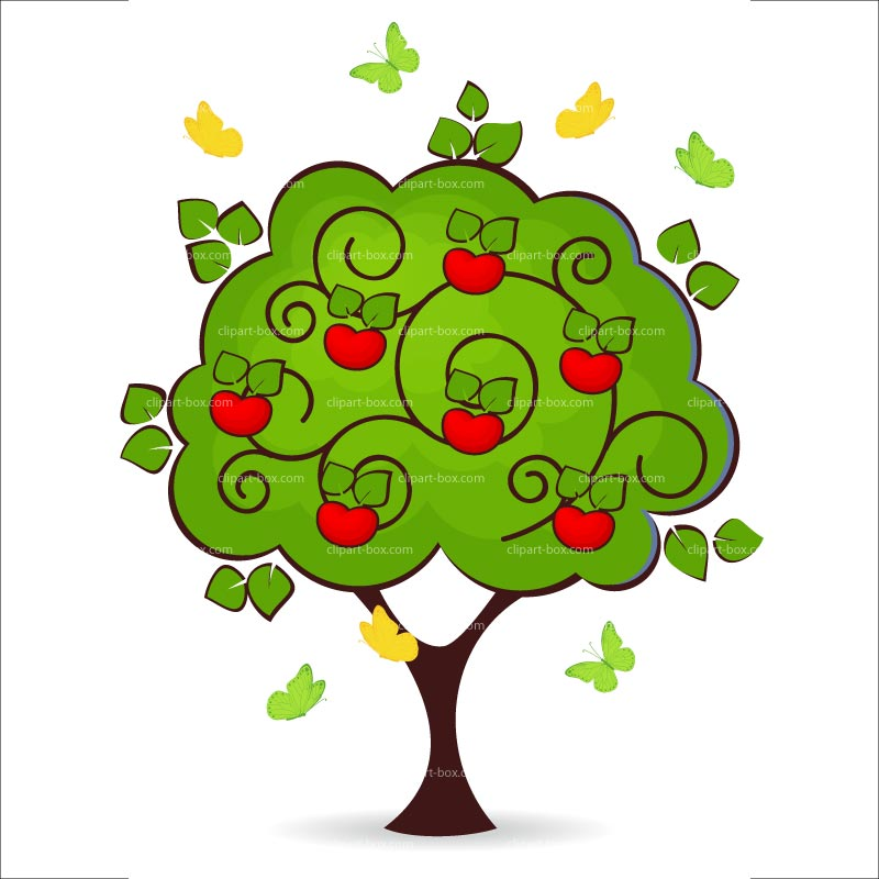 Abstract Apple Tree Clipart.