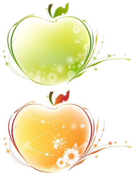 Illustration of Abstract apple Clipart Picture Free Download.