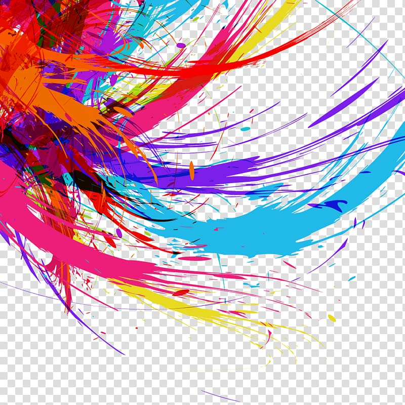Multicolored abstract painting, Graphic design Logo.