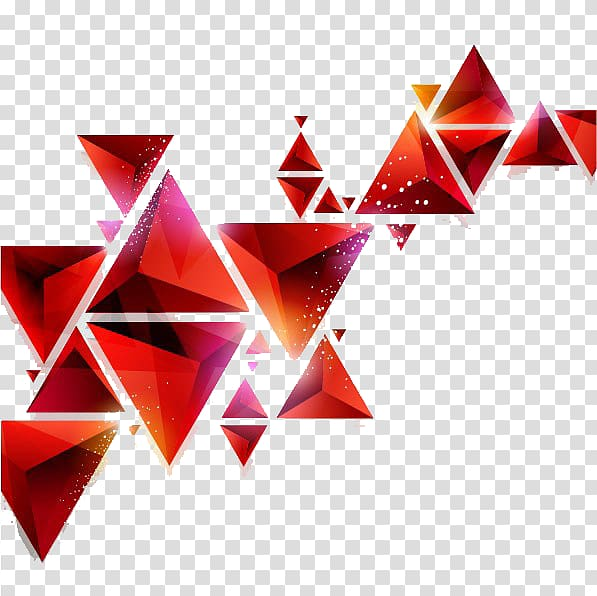 Geometry Abstract art Triangle Geometric shape, triangle.