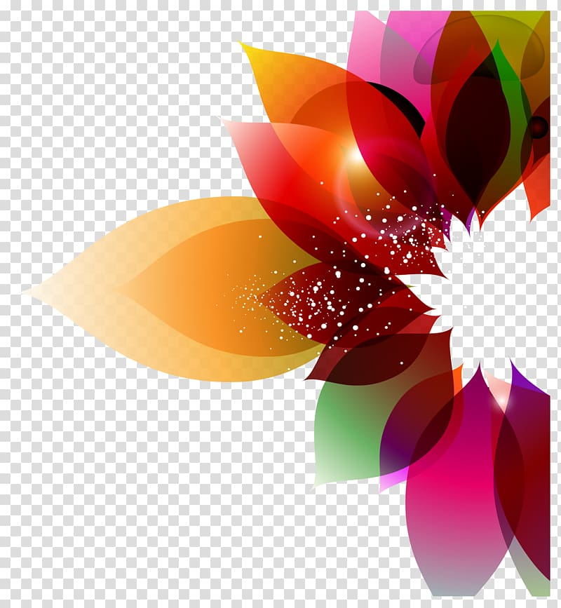 Color Flower Abstract art Floral design, Colorful background floral.