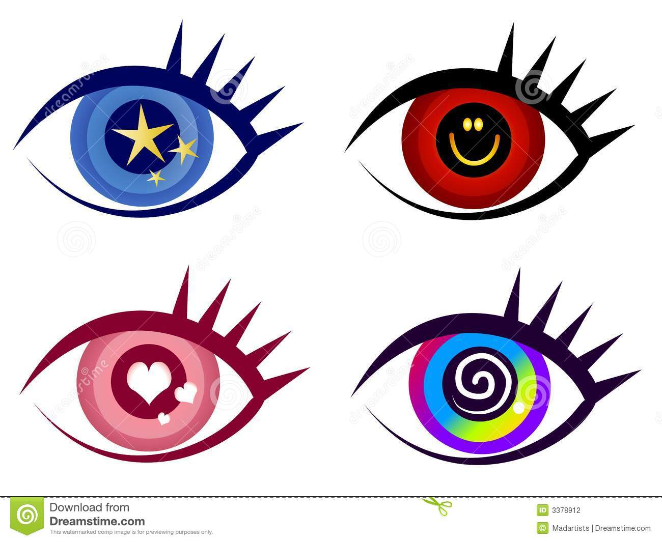 Abstract Eye Clip Art Icons Stock Photography.
