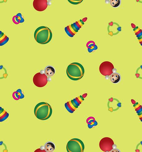 toy seamless pattern. baby pattern. abstract baby toy.