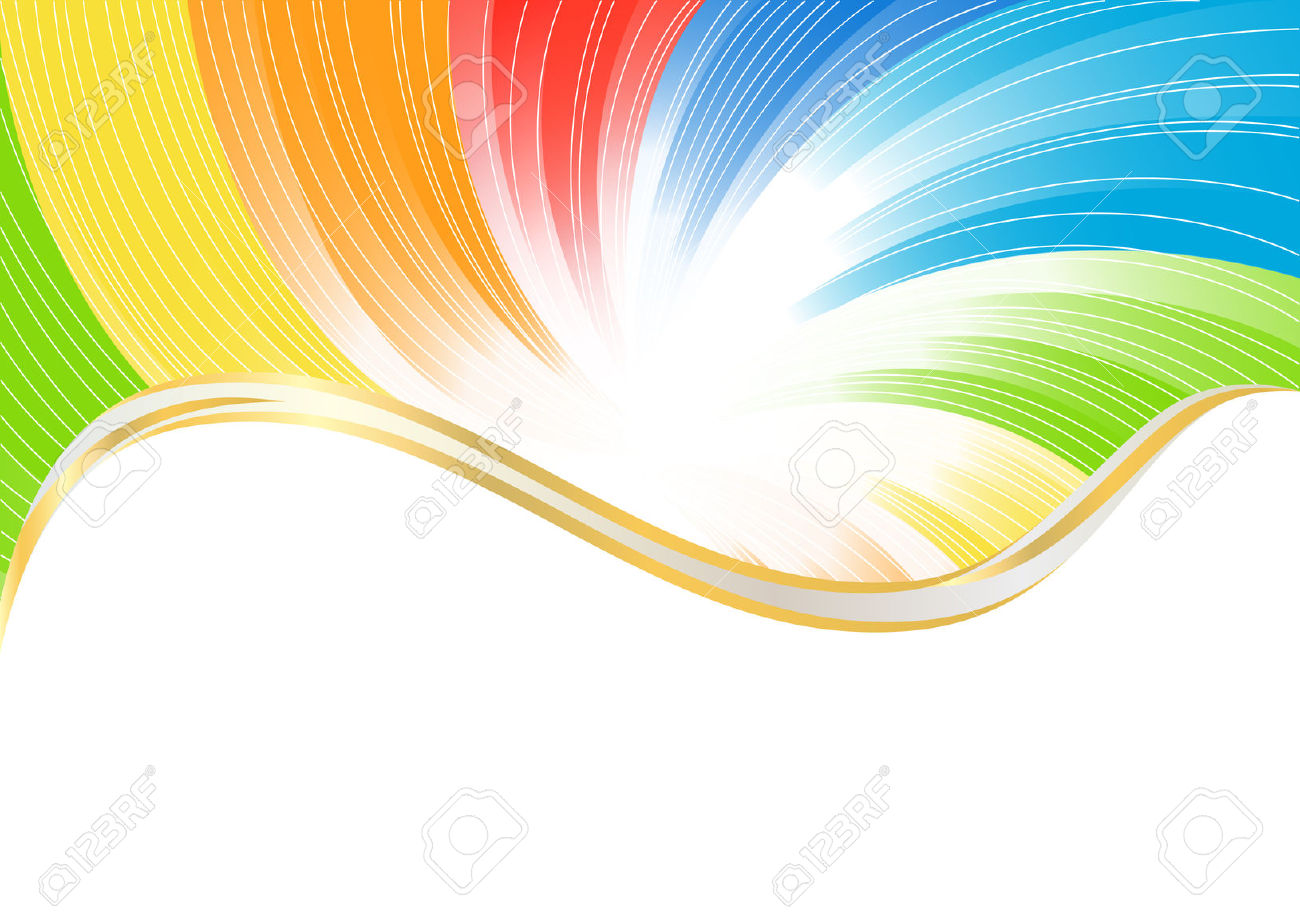 Vector Abstract Background In Bright Color; Clip.