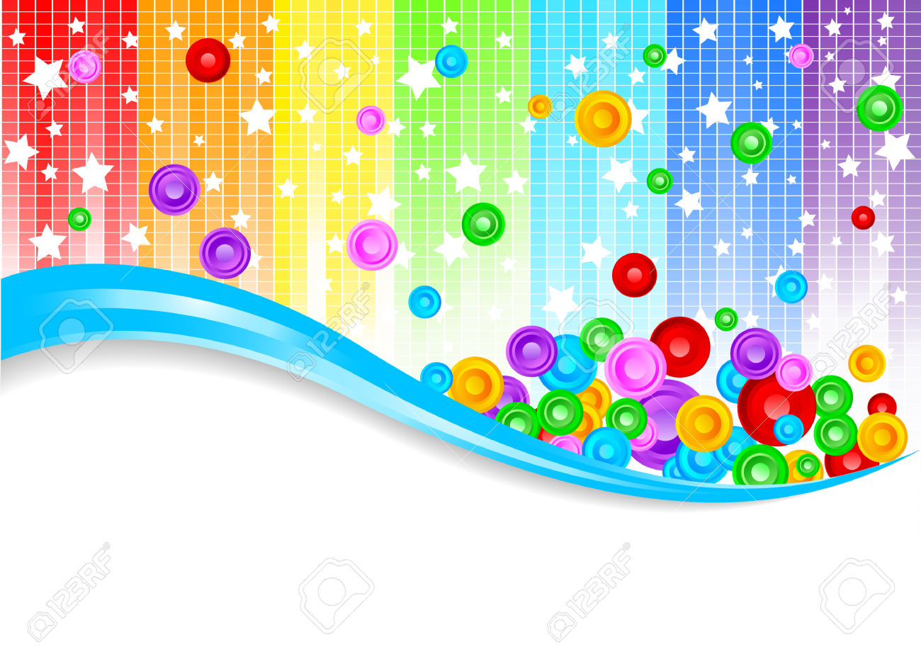 Vector Abstract Colorful Background; Clip.