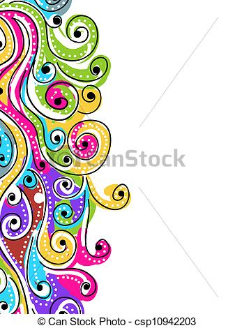 Vector Clipart of Wave hand drawn pattern for your design.