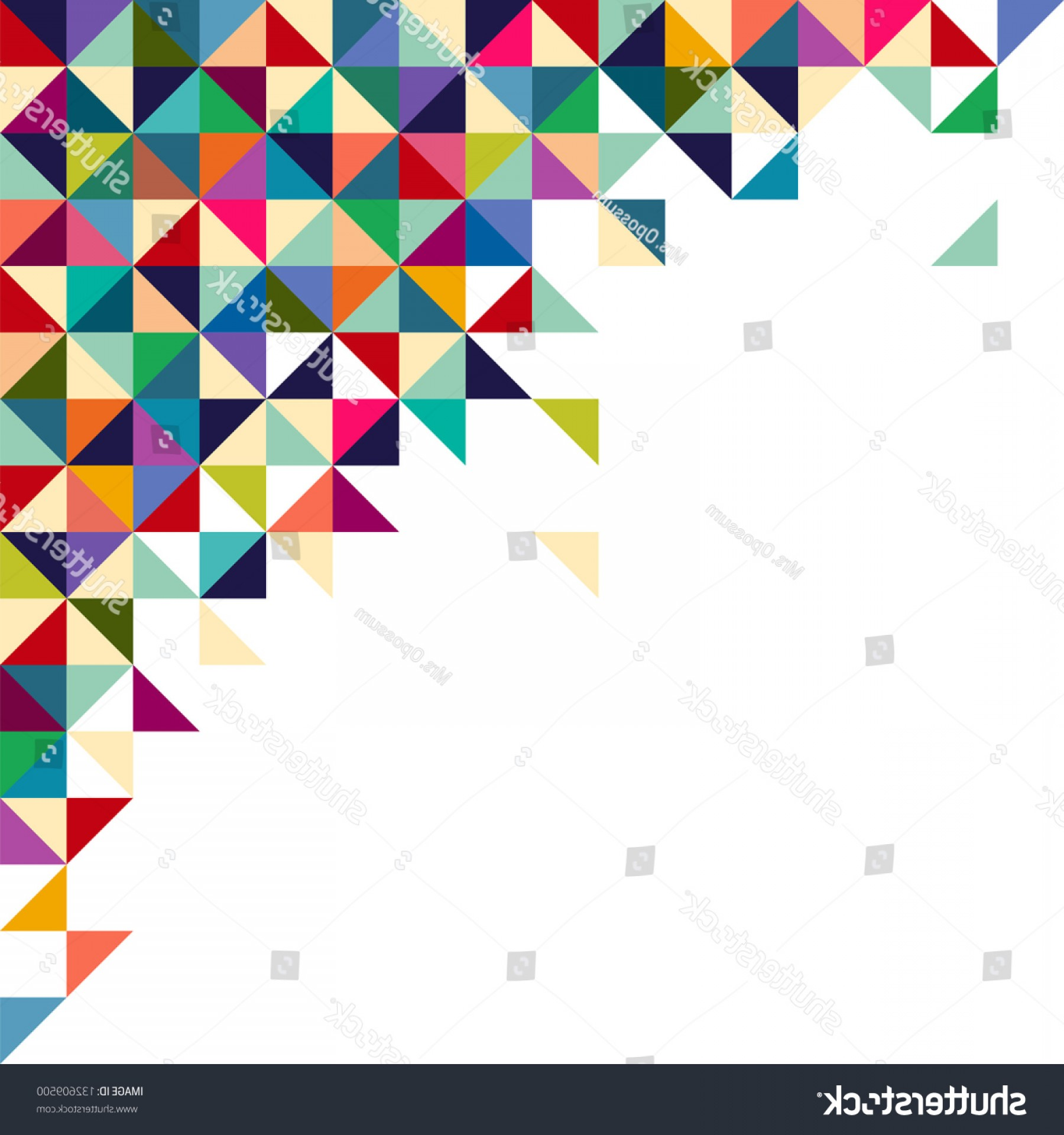 Abstract Geometric Background Triangle Square Colorful.