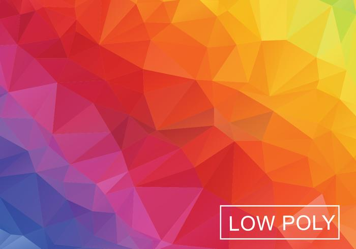 Low Poly Rainbow Abstract Background Vector.