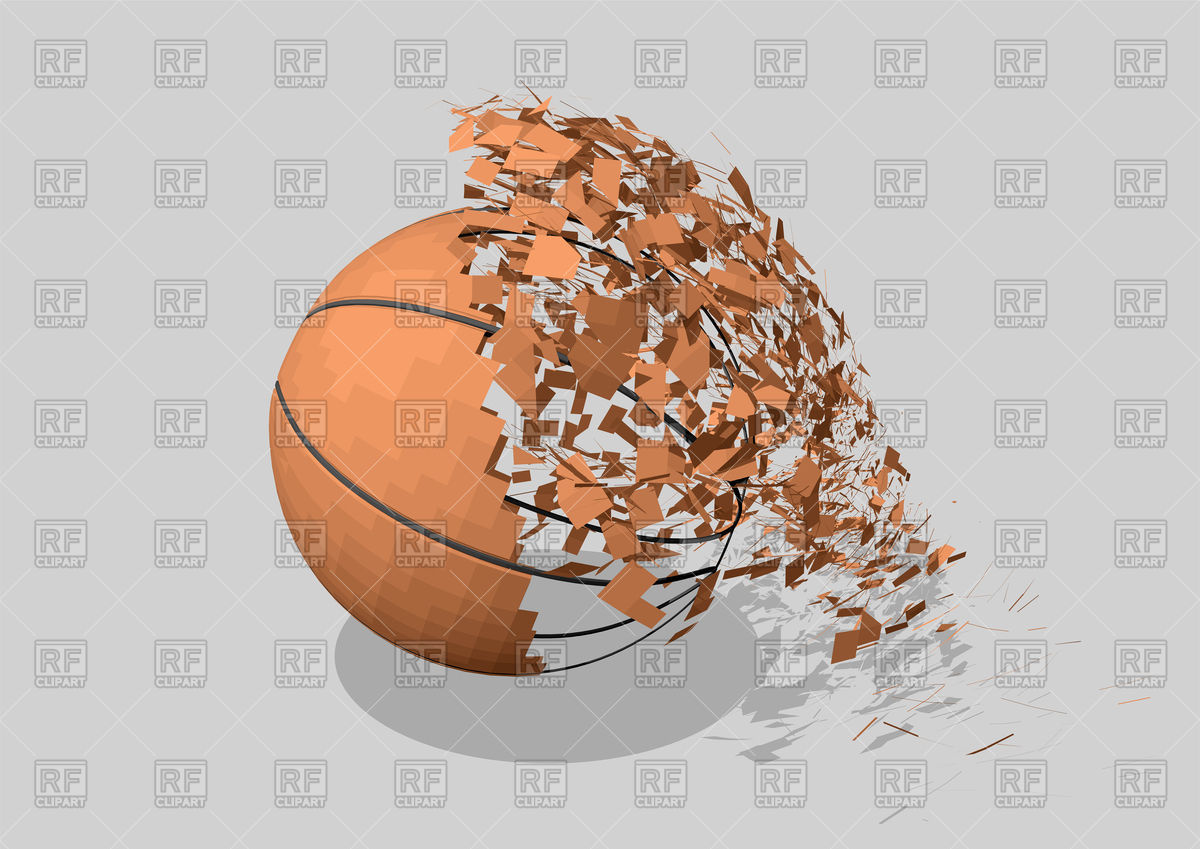 Basketball abstract ball Stock Vector Image.
