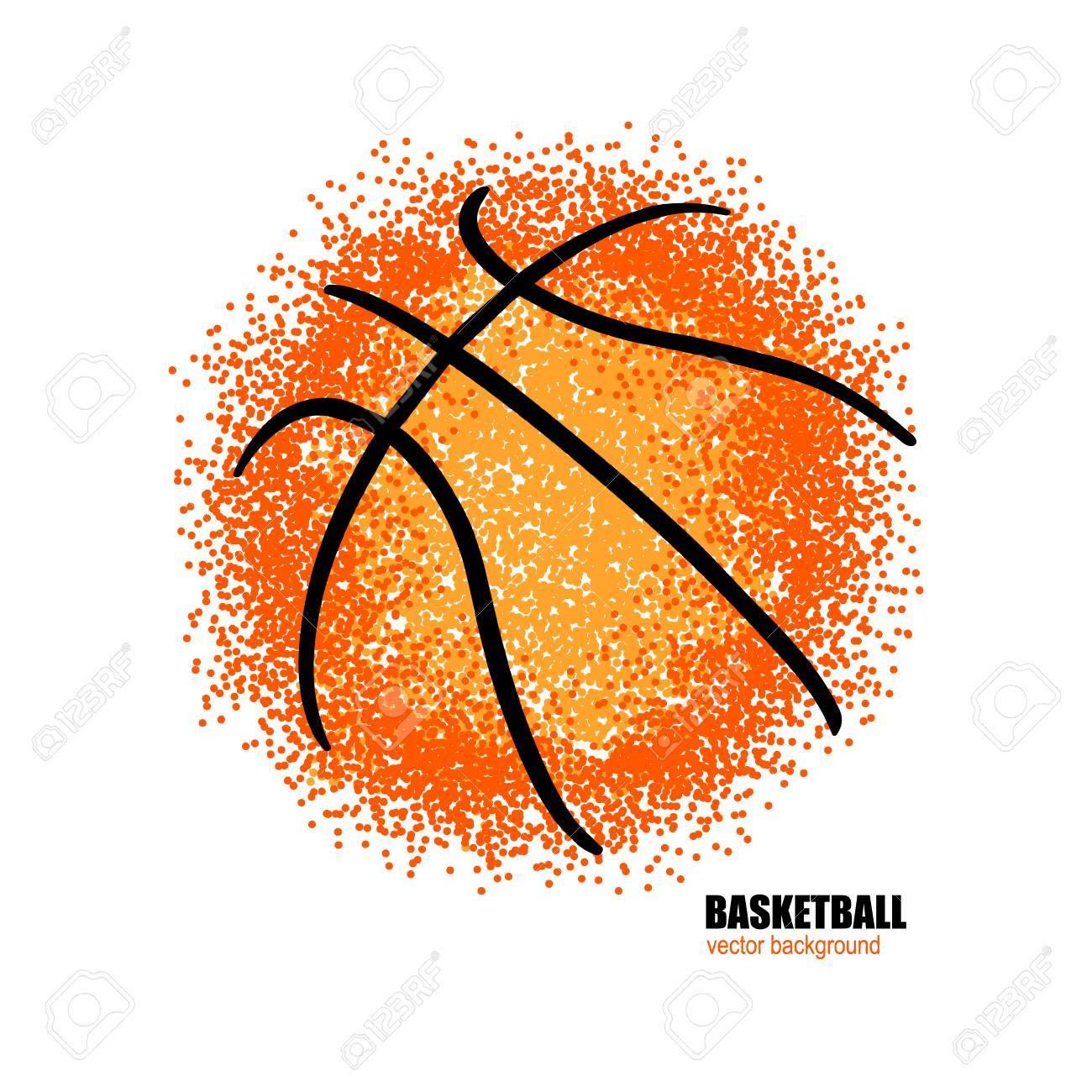 Basketball. Vector abstract ball..