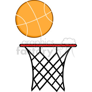 Royalty Free RF Clipart Illustration Abstract Basketball Hoop With Ball  clipart. Royalty.